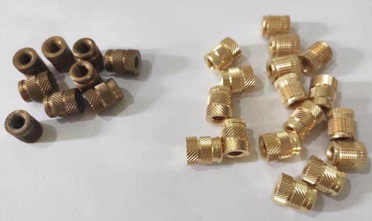 黄铜螺丝套接纳铜材化学抛光液抛光案例